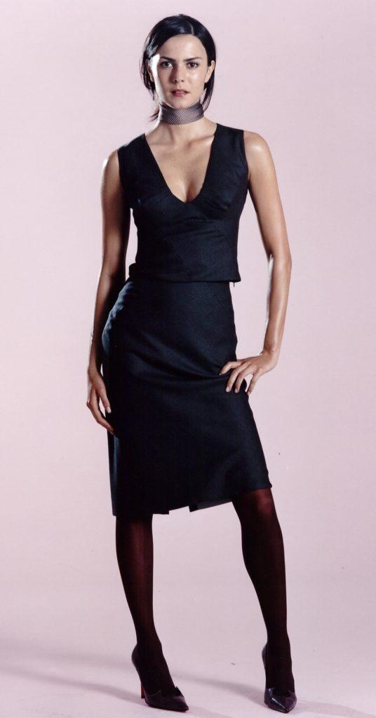 Clariscia Gill, Couture, Dogtooth wool, skirt suit, corporate wear, business wear, bernhardt vonsprecklesen,